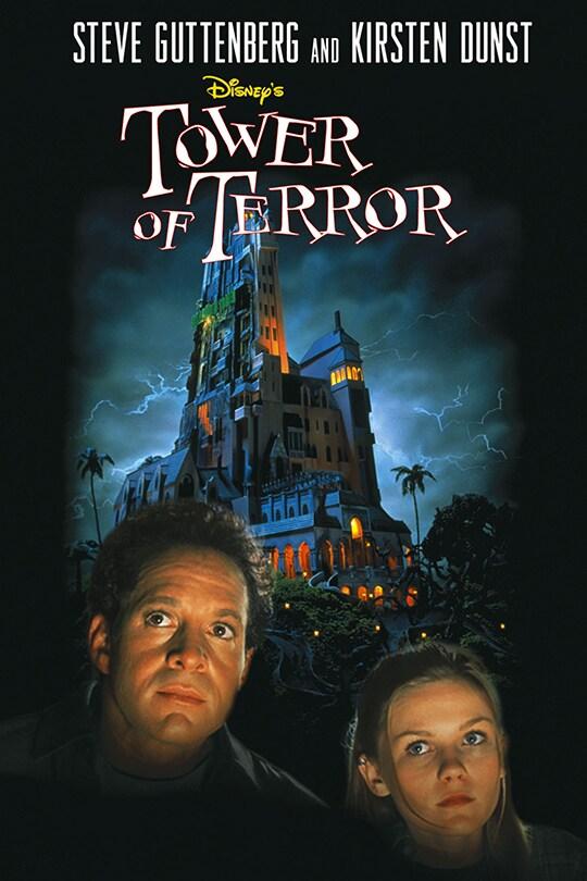 Steve Guttenberg and Kirsten Dunst, Disney's Tower of Terror movie poster