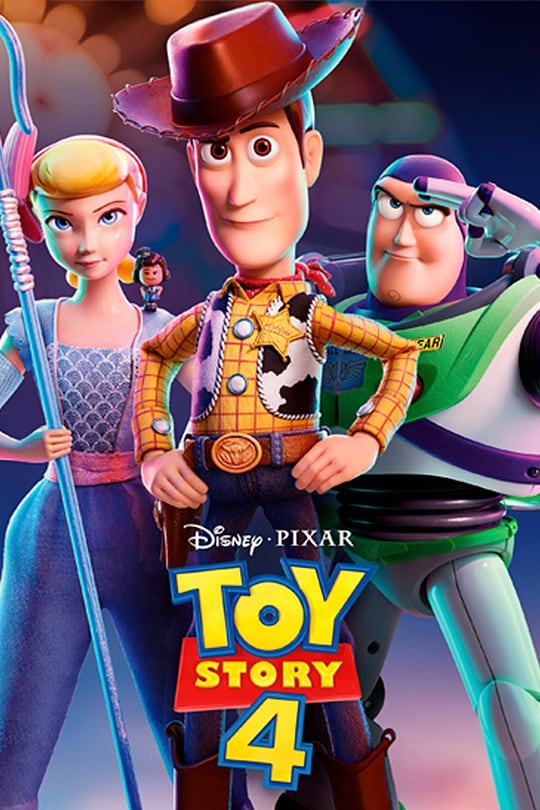 Image of Toy Story 4 movie cover.