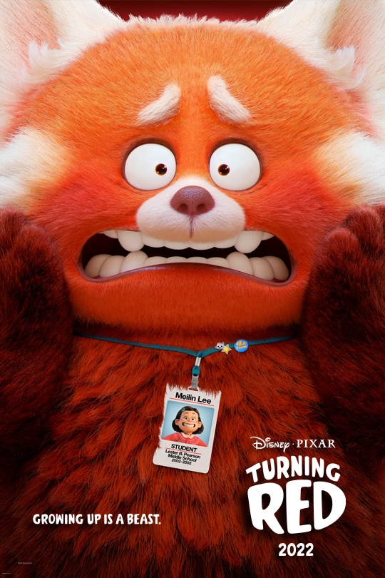 Disney•Pixar | Turning Red | 2022 | Growing up is a beast | movie poster