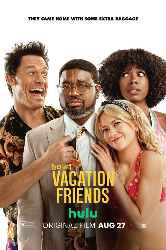 20th Century Studios | Vacation Friends | Hulu | Original film Aug. 27 | rated R | movie poster