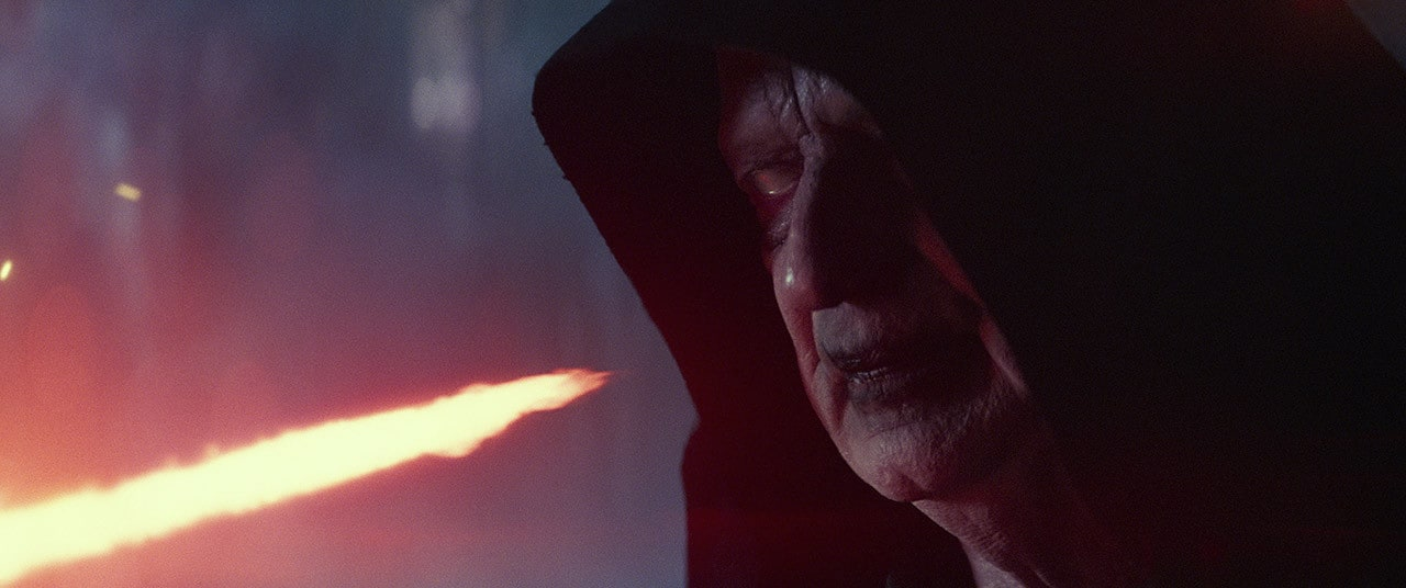 Kylo Ren finding Palpatine on Exegol