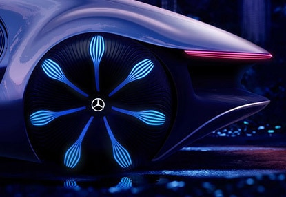 Close-up of Mercedes-Benz VISION AVTR tire
