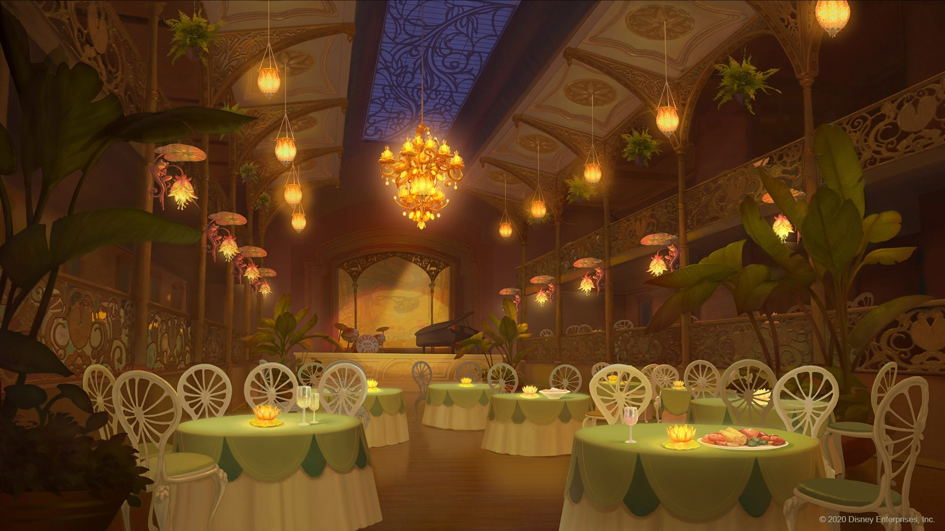 The Princess and the Frog virtual background