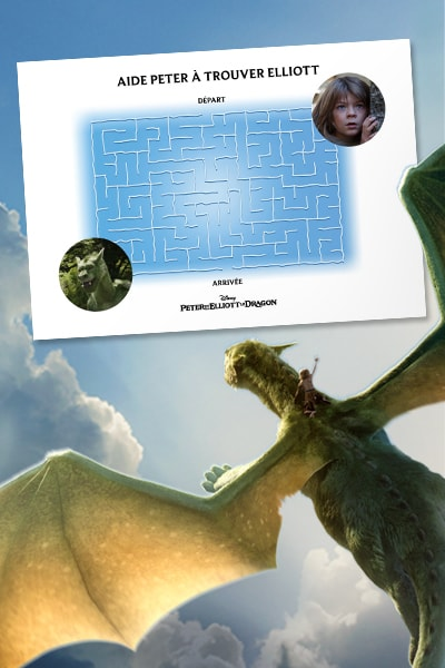 Labyrinthe Peter & Elliott le dragon