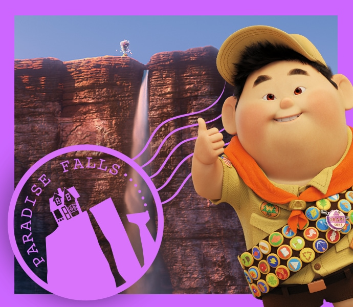 Explore Paradise Falls from Disney and Pixar's Up with these fun activities