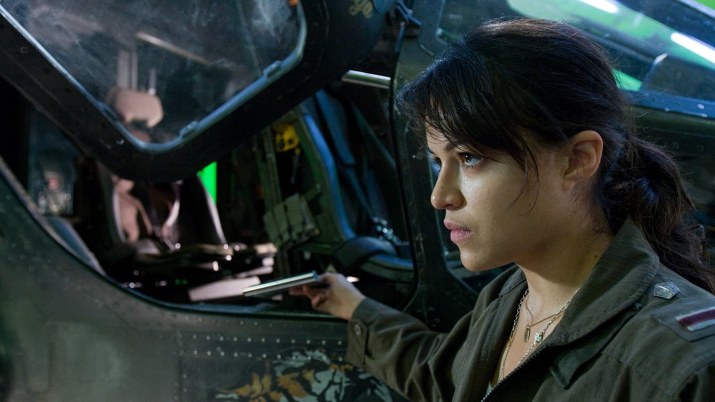 Pilot Trudy Chacon played by Michelle Rodriguez