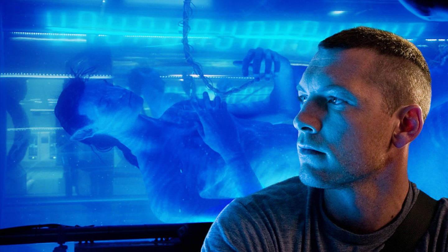 Jake Sully played by Sam Worthington and his avatar