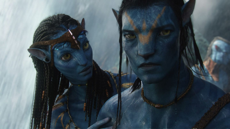 Neytiri played by Zoe Saldana councils Jake, played by Sam Worthington, before his Ikran bonding