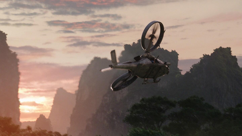 A Scorpion Gunship flies in to strike