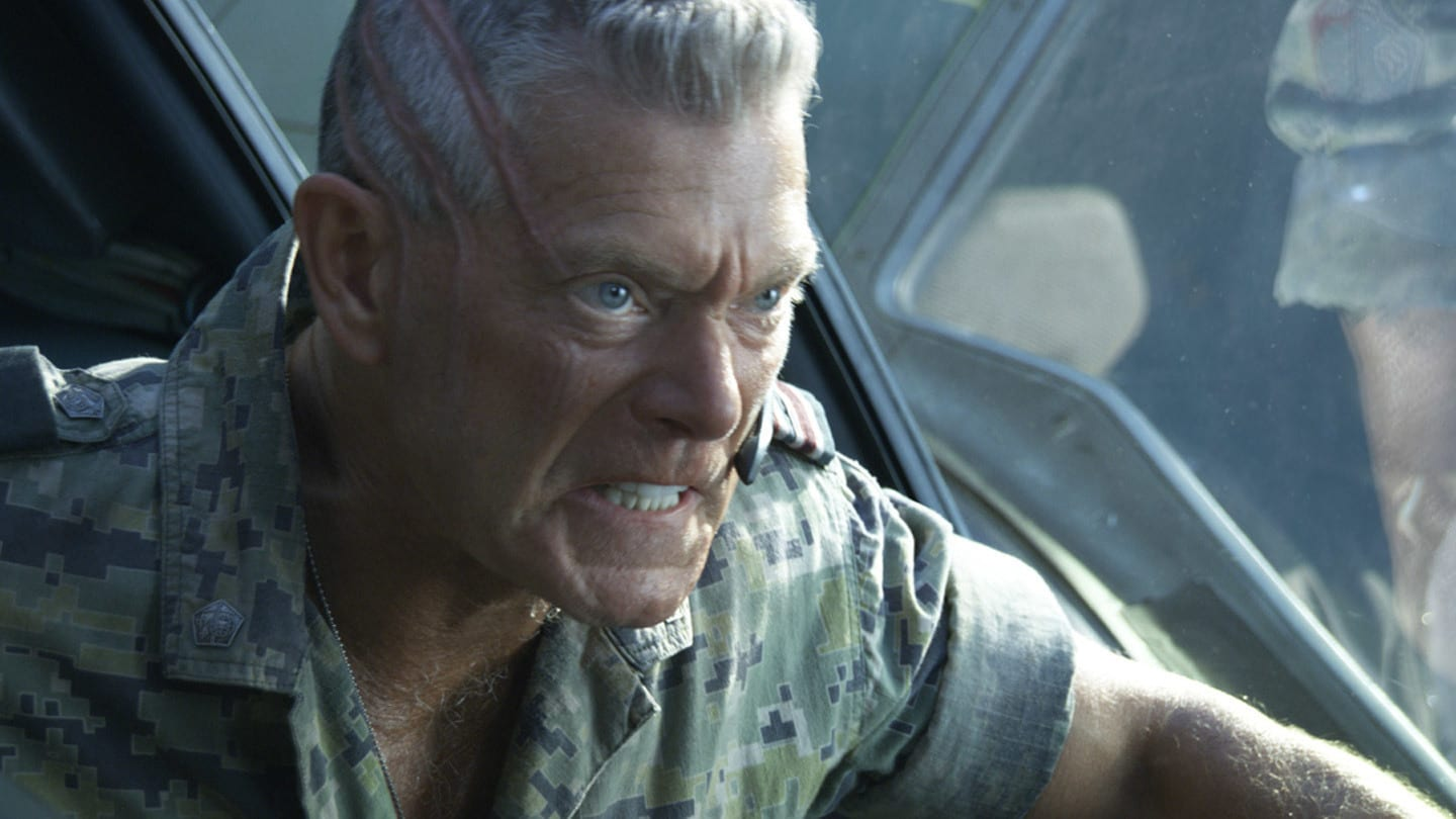 Col. Quaritch, played by Stephen Lang, rages during the Battle of the Hallelujah Mountains