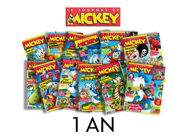 Abonnement 1 an au Journal de Mickey