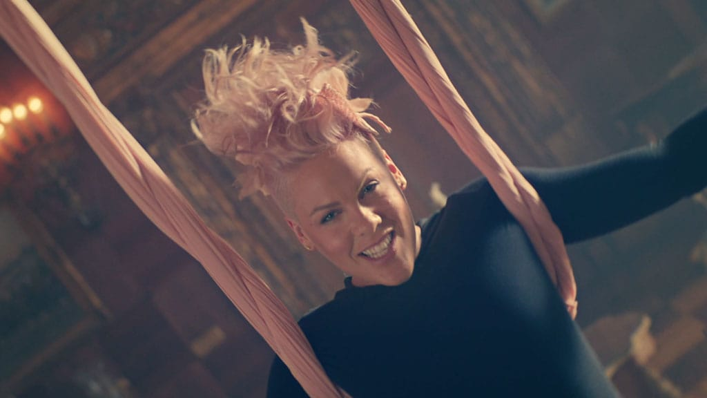 "P!NK ""Just Like Fire"" Music Video 