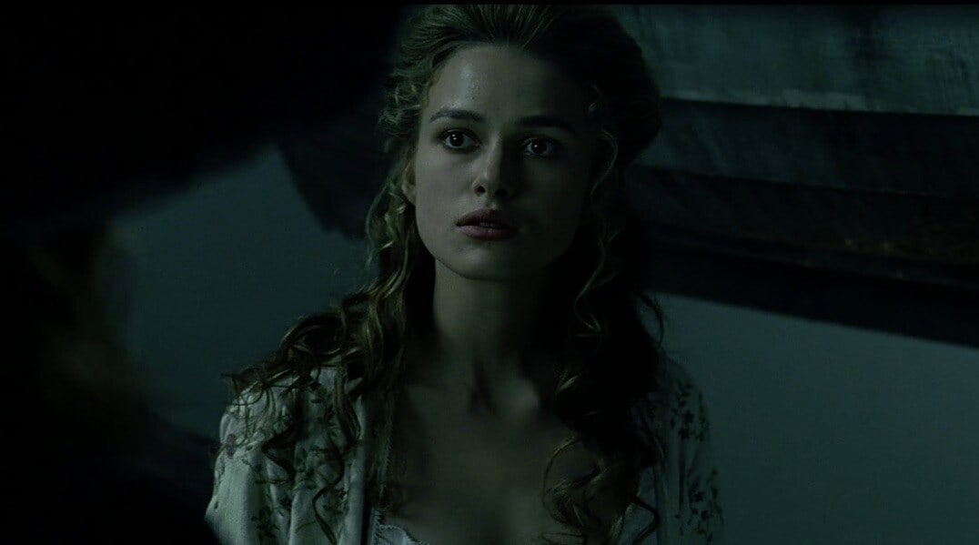 "Actor Keira Knightley as Elizabeth Swann in ""Pirates of the Caribbean"