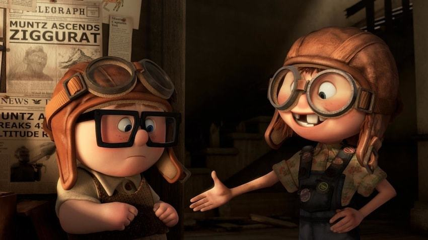 """Young Carl and Ellie from the animated movie """"UP"""""""