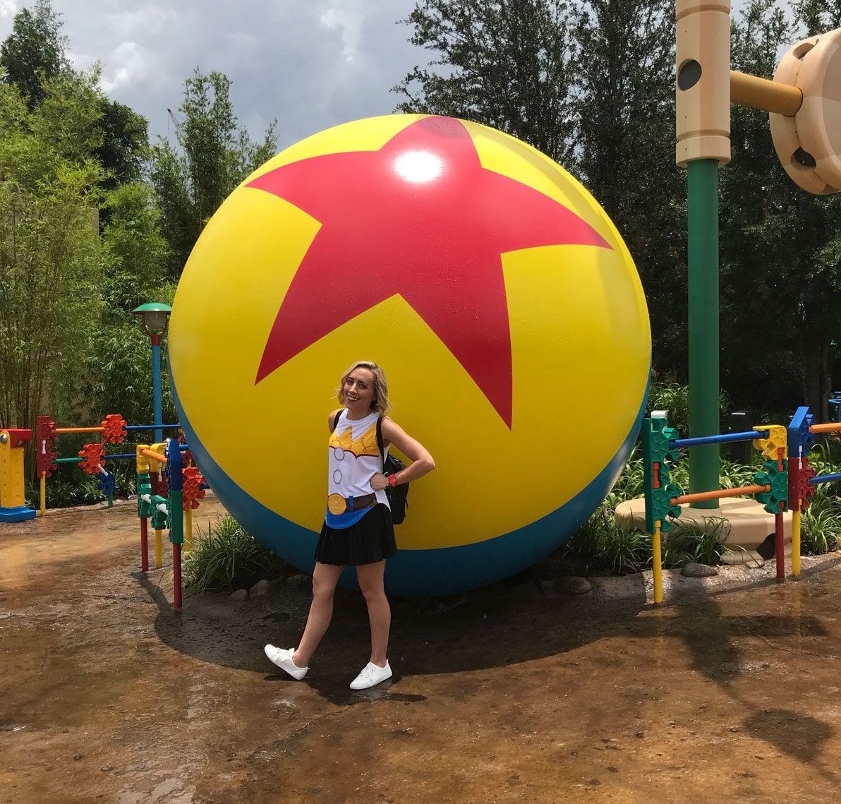 Pixar Ball in Toy Story Land in Walt Disney World and Oh My Disney Host Michelle Lema