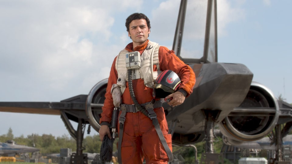 Poe Dameron from Star War getting ready for take off