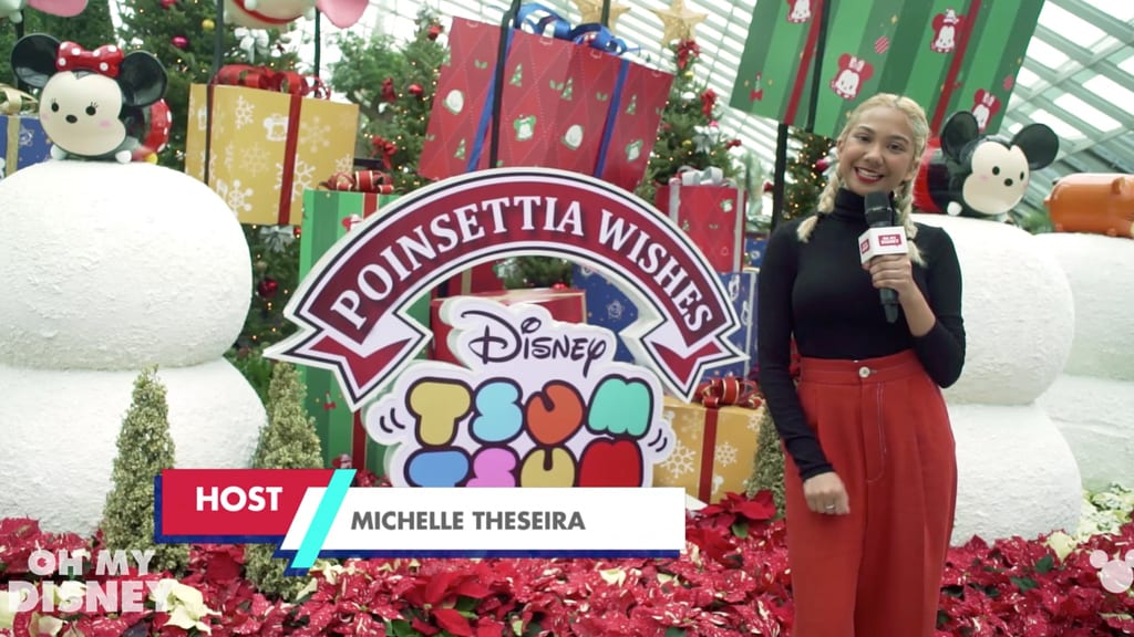 Disney Insider: Gardens By The Bay presents Poinsettia Wishes featuring Disney's Tsum Tsum