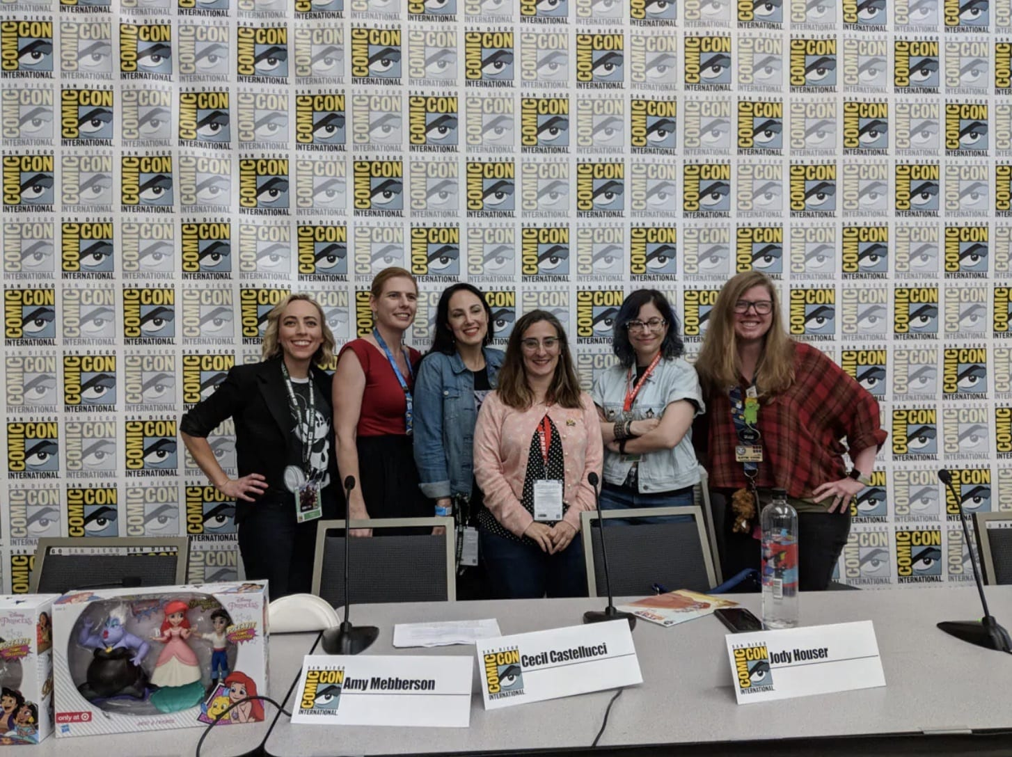 Palenists and Host at the Powerful Young Women Disney Comics Panel at San Diego Comic-Con