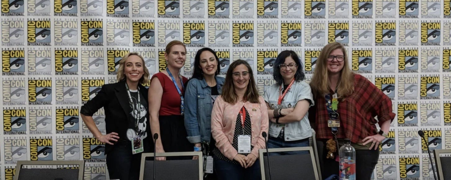 Panelists and Host at the Powerful Young Women Disney Comics Panel at San Diego Comic-Con