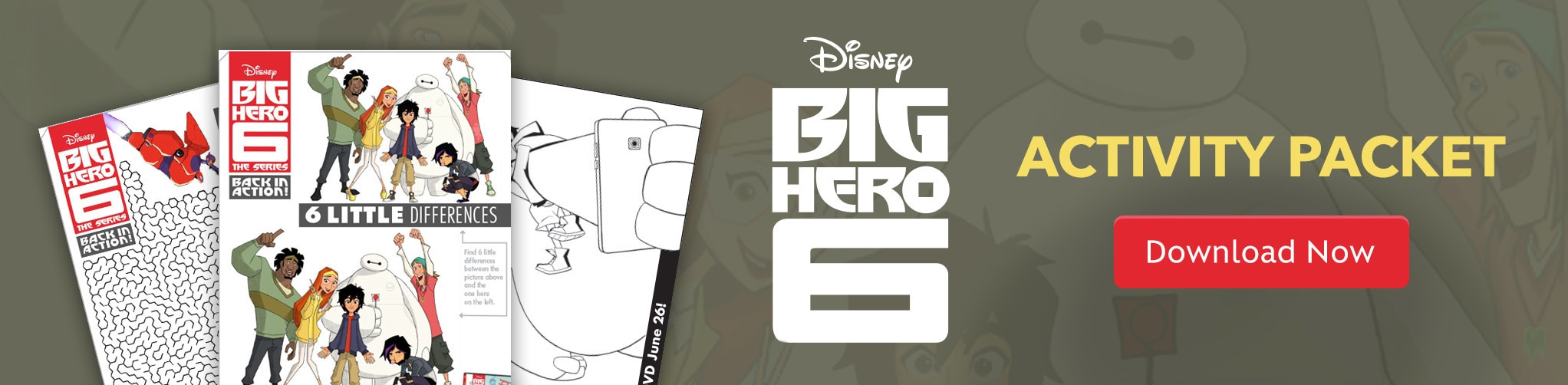 Disney Big Hero 6 Activity Packet - Download Now