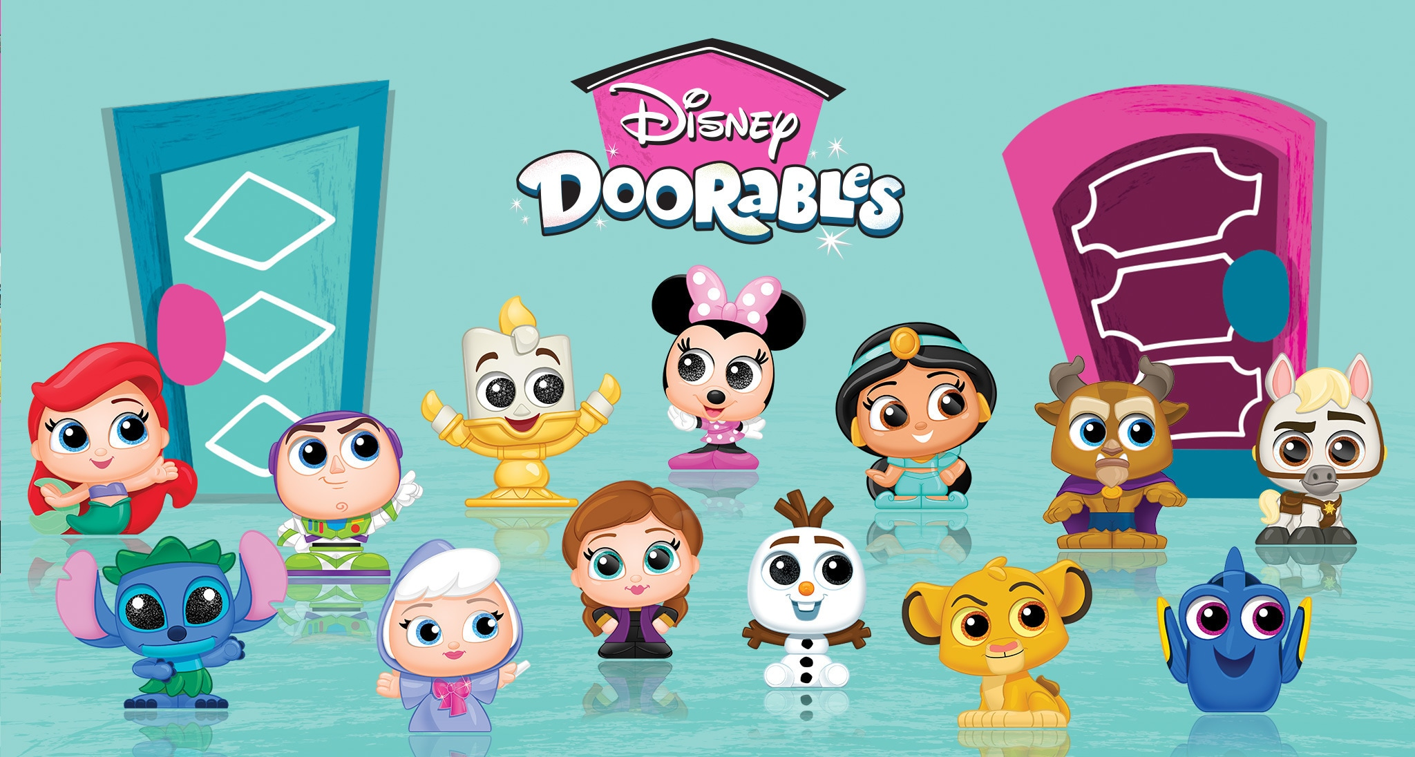 Disney Doorables logo with characters underneath
