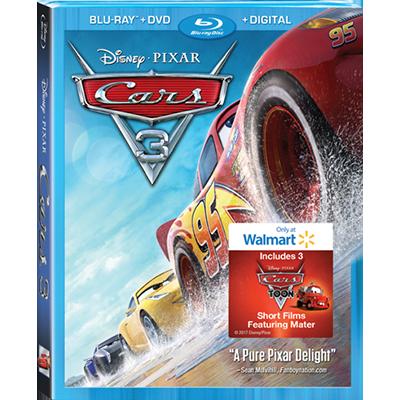 Walmart Exclusive Blu RayTM DVD Digital 3 Additional Short Films