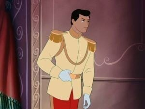 "Prince Charming in the animated movie ""Cinderella"""