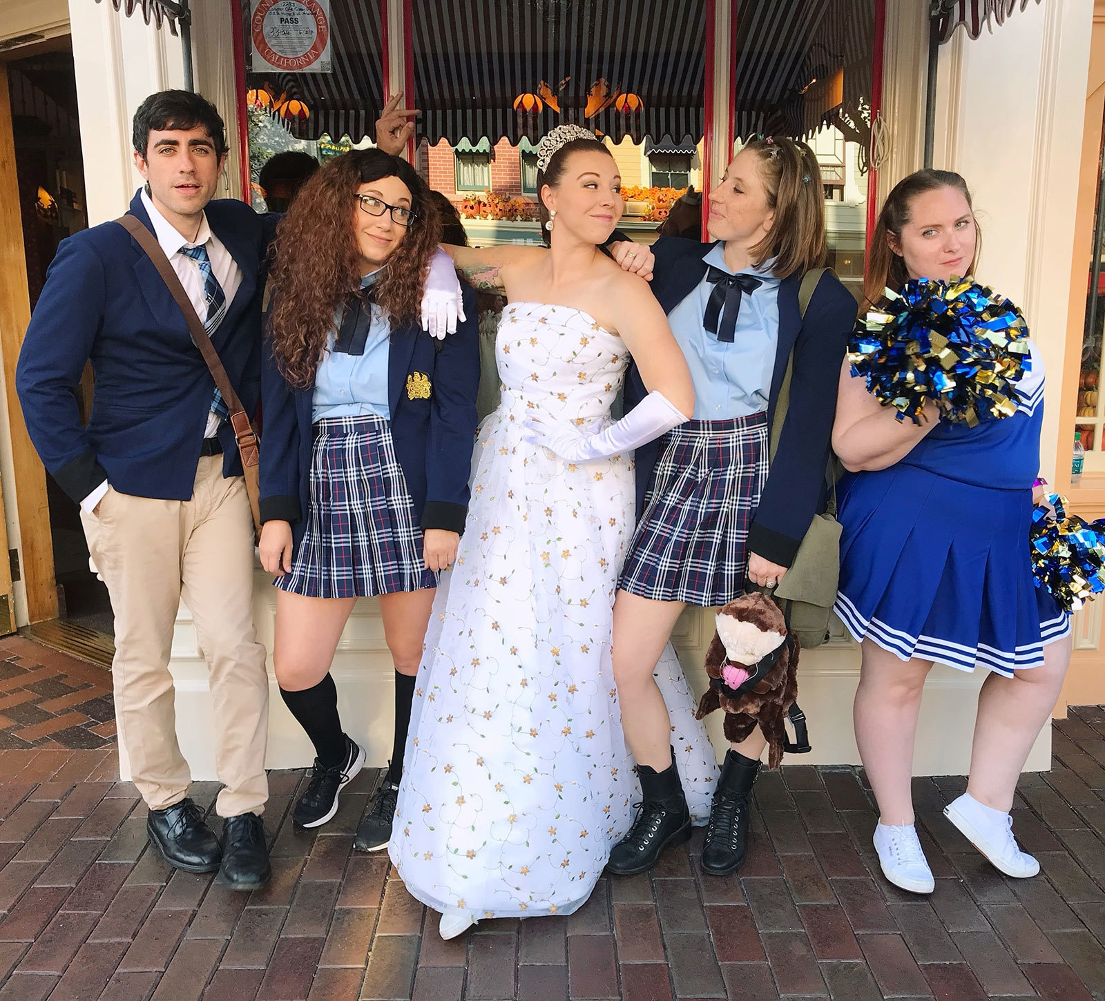 Princess of Genovia and friends dressed up as Princess Diaries characters
