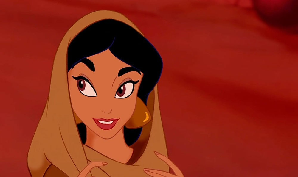 "Princess Jasmine from the animated movie ""Aladdin"""