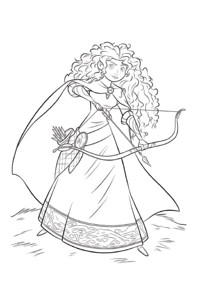Coloriage Princesse Merida