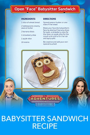 Adventures in Babysitting - Babysitter Sandwich Recipe