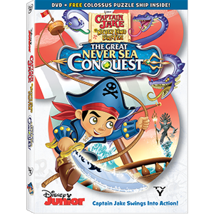 Captain Jake: The Great Never Sea Conquest DVD