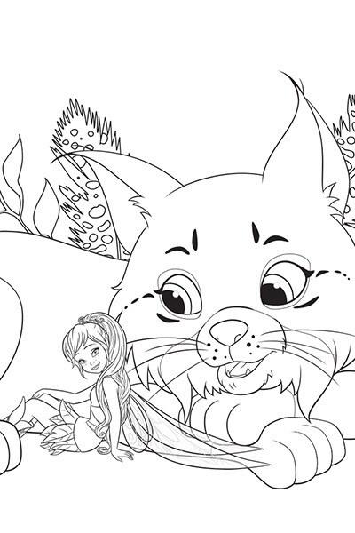 Coloriage Noa aime les chats