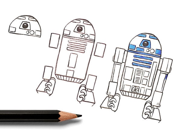 Learn to Draw R2-D2, the Galaxy's Greatest Astromech!