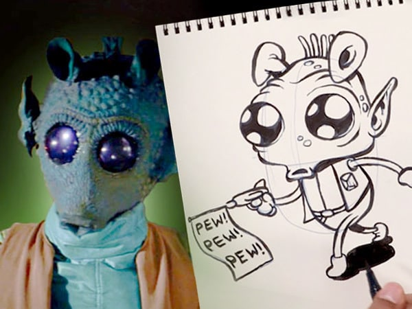 Be Quick on the Draw -- and Learn to Sketch Greedo!