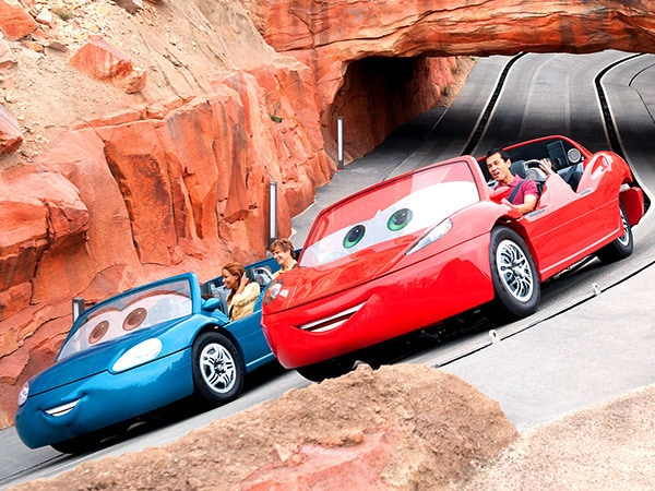 Speed Through Radiator Springs Racers at Disneyland Resort