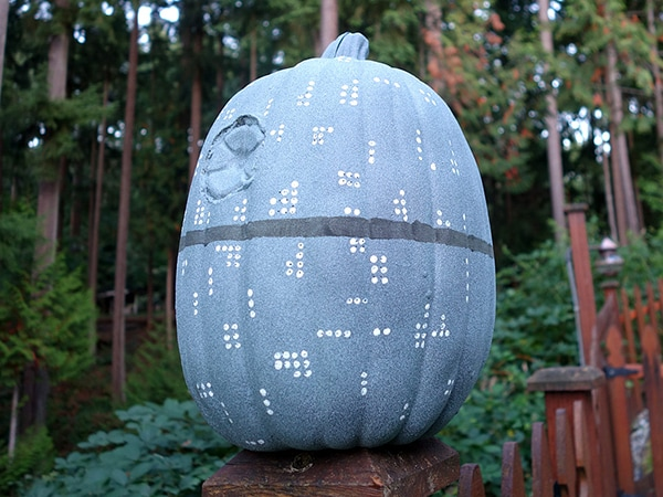 That's No Moon. It's a Star Wars Death Star Pumpkin!