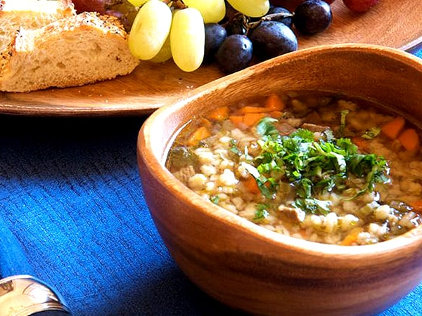 King Stefan's Banquet Hall's Beef and Barley Soup and Fried Brie Cheese Recipes