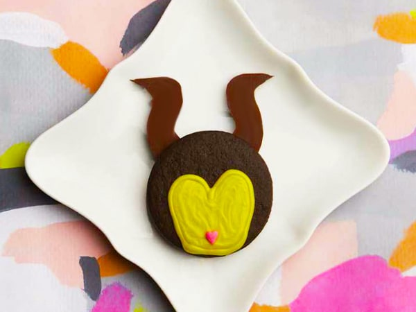 Maleficent Triple Chocolate Sandwich Cookies