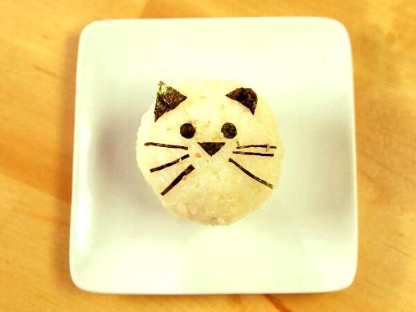 Japanese Style Onigiri Rice Balls with Radishes