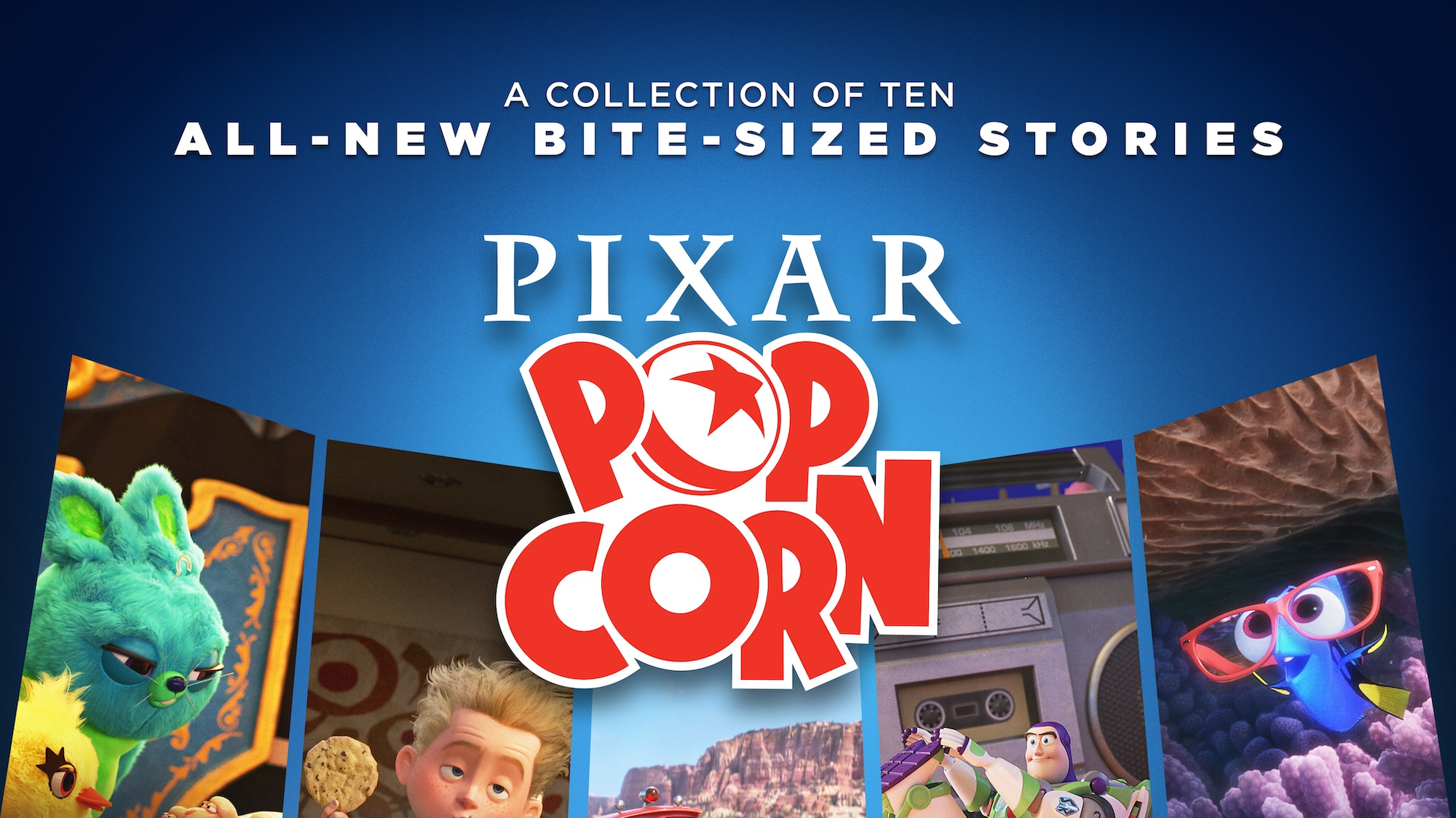 Pixar Popcorn Key Art