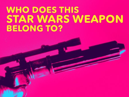 Who does this Star Wars weapon belong to?