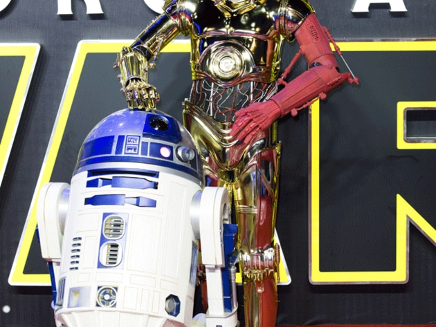 Firm fan favourites C3-PO and R2-D2 seemed bemused by the whole event.