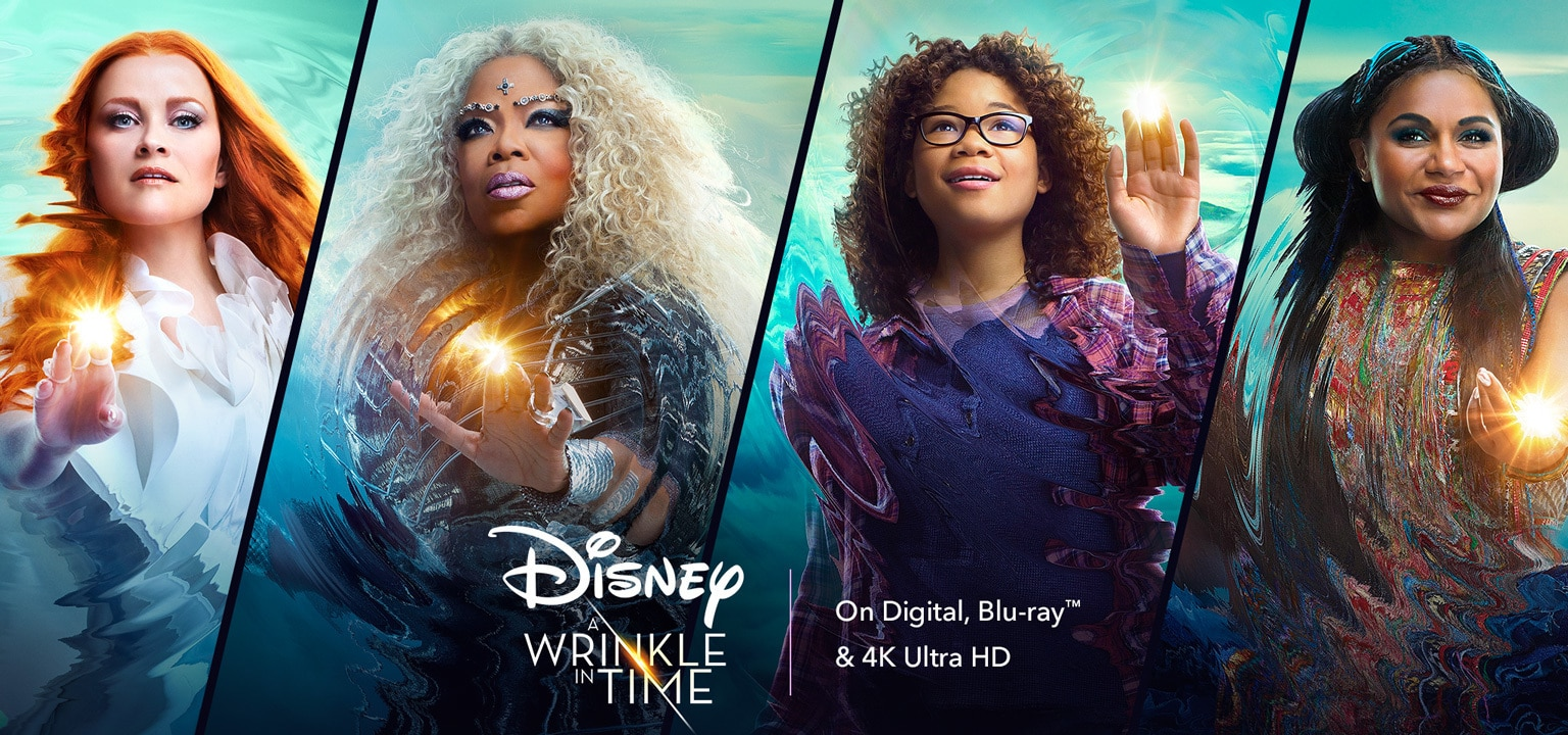 Disney's A Wrinkle in Time. Now on Digital, Blu-ray  New on 4K Ultra HD