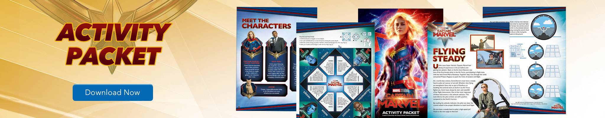 Captain Marvel Activity Packet
