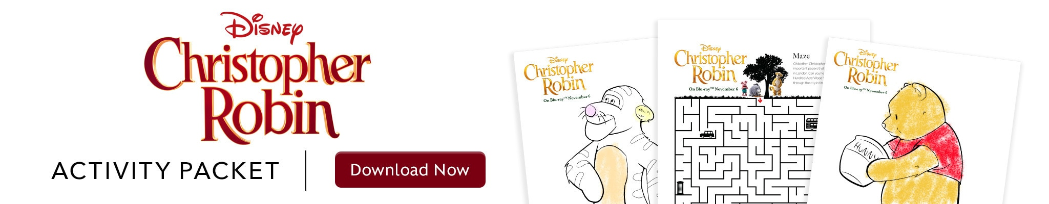 Christopher Robin - Activity Packet - Download Now