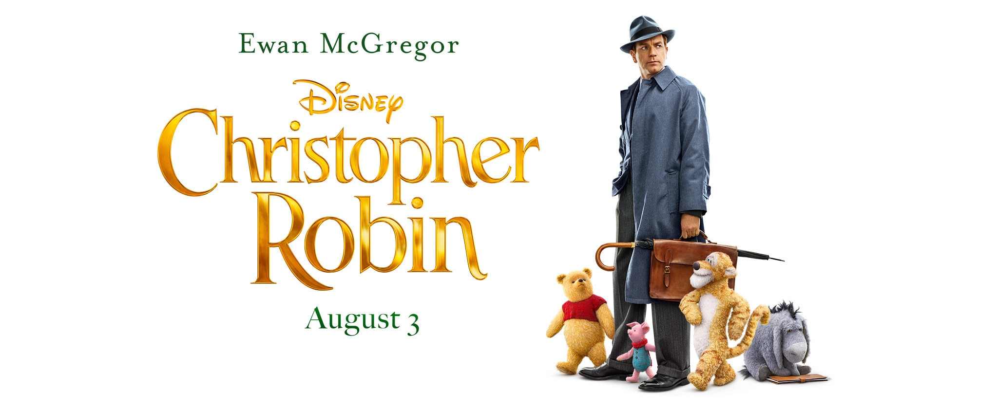 Ewen McGregor inChristopher Robin august third