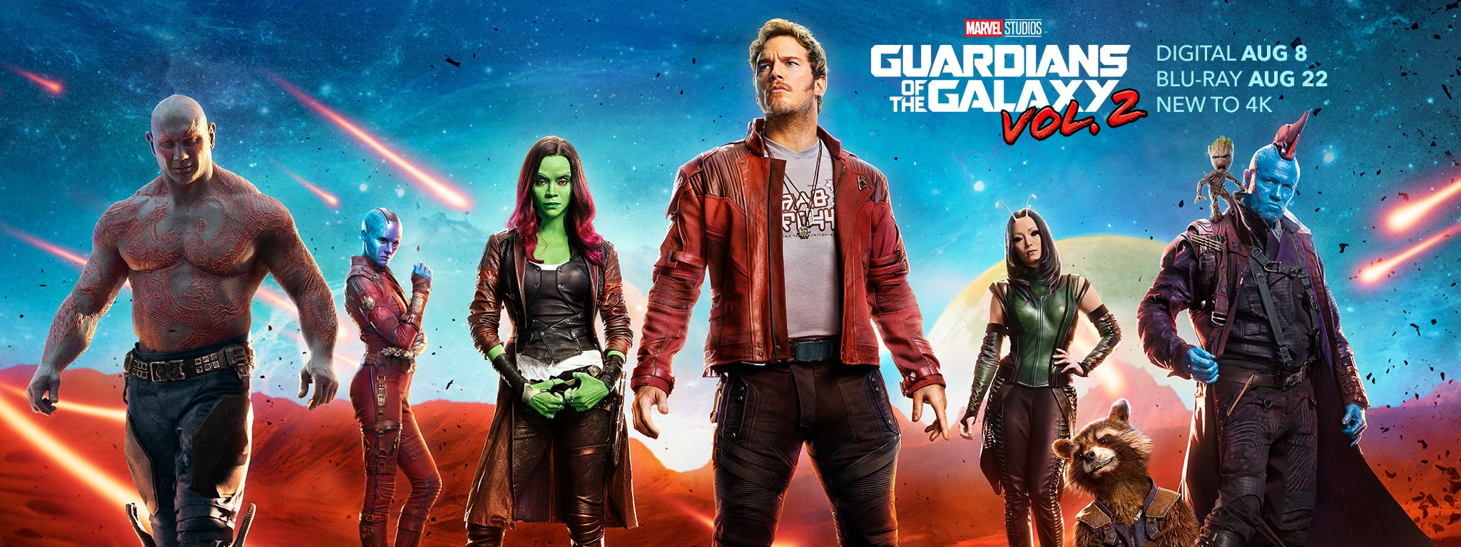 Guardians of the Galaxy Volume 2 on Digital August 8 and Blu-Ray August 22