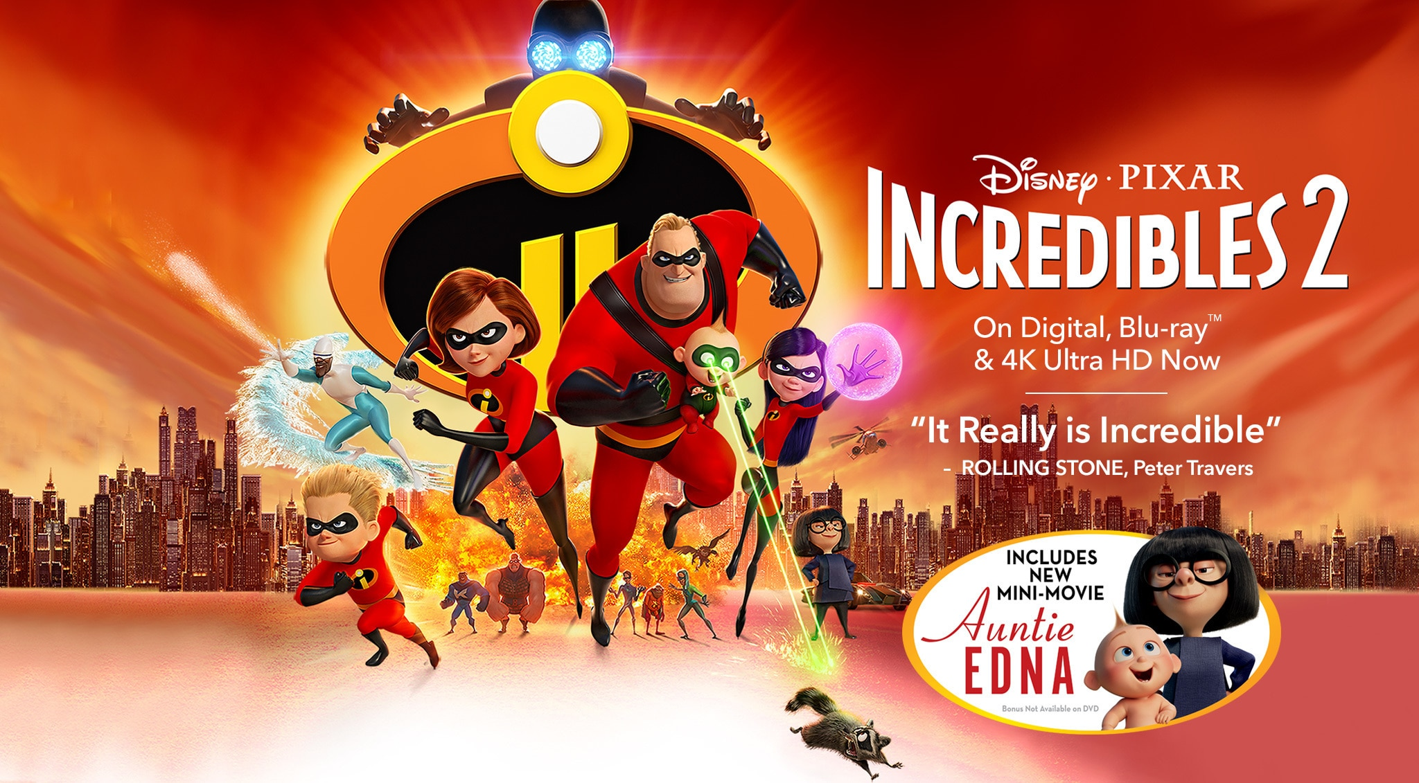 Disney • Pixar Incredibles 2 - On Digital, Blu-ray(TM) & 4K Ultra HD Now