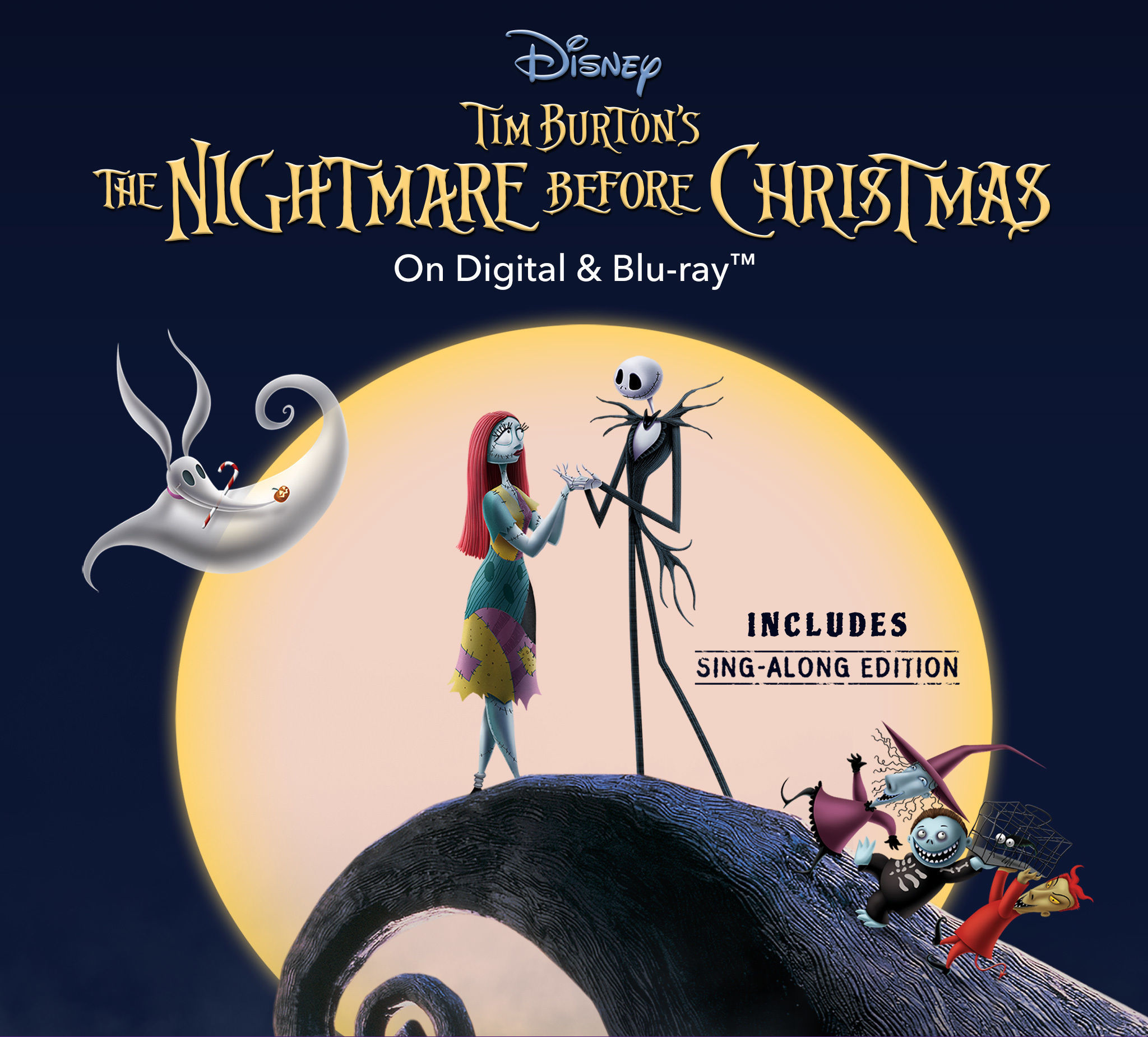 the nightmare before christmas on digital and blu raytm includes - A Walt Disney Christmas Dvd